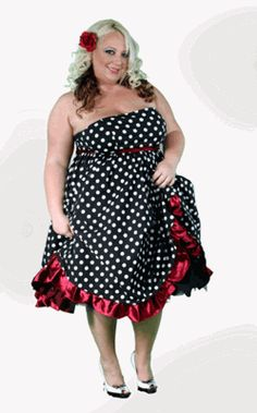 Plus Size|Pinup|Strapless Dress|Red Plus size 18-28 on sale for $32.95 this site has a layaway.
