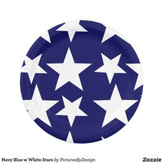 Navy Blue w White Stars Paper Plate  sc 1 st  Pinterest & Patriotic Stripes Design Paper Plates | Red birthday party