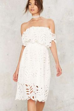 Dee Off-the-Shoulder Dress - Clothes | Dressed To Frill | Best Sellers | LWD | Summer Whites | Off The Shoulder