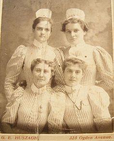 Vintage Nurses Photograph from 1898 by @nursingpins