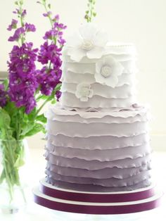 Modern Wedding Cakes | Top 10 ruffled wedding cakes | Plan Your Perfect Wedding | The UK's ...