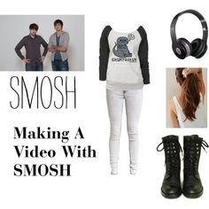 Making A Video With SMOSH!!!! :D by rikki-jo-mullins on Polyvore featuring Chanel, Beats by Dr. Dre, YouTubers, youtube and smosh