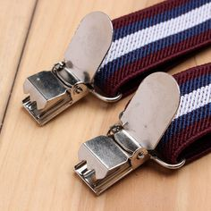 Men Boys Stripe Elastic Suspender Y-Back Adjustabel Clips Pants Accessories at…