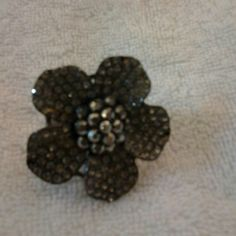 Ring Black and silver flower ring. Size 7. Can only be purchased in a bundle. Accessories