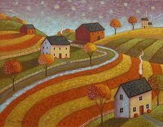 Mary Charles - Autumn Farmland