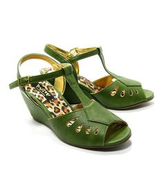Look at this Celery Dani Wedge Sandal on #zulily today!