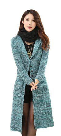 Women's Classic Button Down Pocket Knit Long Cardigan Sweater Coat