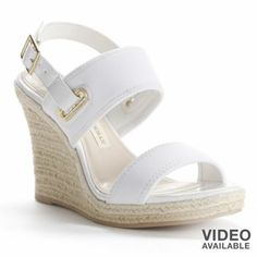 1b01cb652 Dana Buchman Espadrille Wedge Sandals - Women  White  Kohls White  Espadrille Wedges