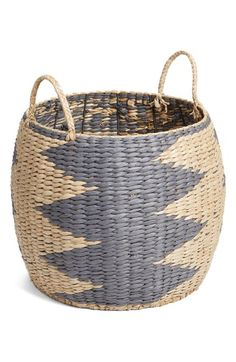 Levtex Chevron Woven Basket available at #Nordstrom