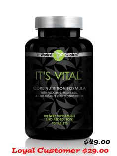 It's Vital Core Nutrition $29.00 ~ #gluten free, #plant based whole #food complex / boosts ability to #burn #calories