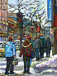 3cc2c4822 18 Best MONTREAL WINTER SCENE PAINTINGS images in 2019
