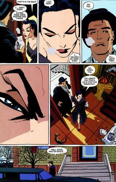 Bruce Wayne and Selina Kyle in Batman: Dark Victory