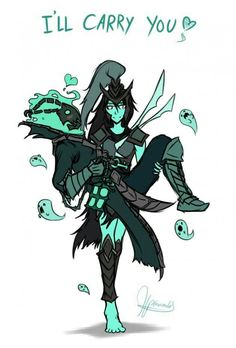 Kalista and tresh ... The best couple ~~ bot line ❤❤ #lol #leagueoflegends #riotgames #love