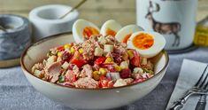Babos-kukoricás tonhalsaláta recept | Street Kitchen Cobb Salad, Street, Kitchen, Food, Baking Center, Cooking, Kitchens, Hoods, Meals