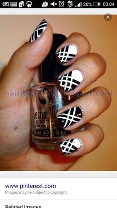 Pretty Glitter Cross Nail Design Nails Pinterest Cross Nail