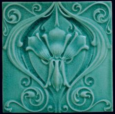 Art Nouveau tile, made by: Compagnie Generale de produits céramiques, saint Ghislain, Belgium. Made around 1900. The back is marked with SG which is common in tiles from this factory. The decorations were made in relief by pressing the flexible clay. The tile is in beautiful condition. The tile is 15.2 x 15.2 cm and 1.3 cm thick. Will be packed carefully, shipments within the Netherlands via PostNL, international shipments via DHL, all packages will be sent with a track & trace number....