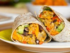 IC Friendly Black Bean and Butternut Squash Burritos (I used sweet potato)