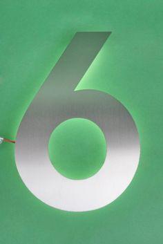 edelstahl hausnummer 7 wahlweise mit led house numbers. Black Bedroom Furniture Sets. Home Design Ideas