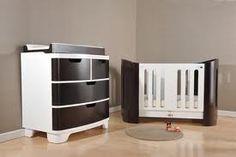 Bloom Luxo Cot in Espresso & Coconut White Nursery Furniture, Kids Furniture, Baby Cribs, Cot, Bloom, Cabinet, Storage, Wall, Nursery Ideas