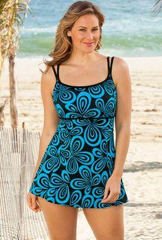 LongitudeTurquoise Carnaby Plus Size Lingerie Swimdress