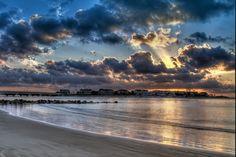 Sunrise on Isle of the Palms, near Charleston SC. We love it here.