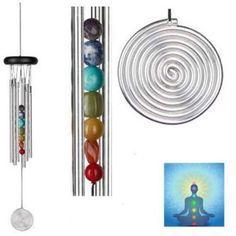 Chakra Windspiel Woodstock Seven Stone - Chakra-Produkte - Cleopatra's Duft-Oase