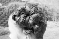 DANCE - Flower Buns  soooo cute and really really easy! it's all done w/a topsy tail - no bobby pinning!