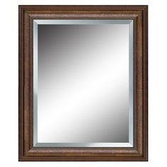 Shop allen + roth 27-in x 33-in Bronze Beveled Rectangle Framed French Wall Mirror at Lowes.com