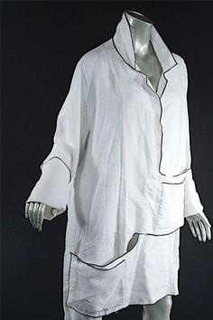 Cynthia Ashby White 100 Linen Shirt Jacket with Pocket Tabs Great Mint Sz XL | eBay