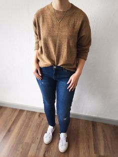 Bidi and Me - Tan Box Shape Jersey/Sweater Clothing Items, Winter Outfits, What To Wear, Normcore, Comfy, Shape, Pullover, Box, Sweaters