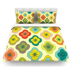 East Urban Home Forest Bloom by Nicole Ketchum Featherweight Duvet Cover Size: