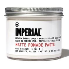 Imperial Barber Matte 4-ounce Pomade Paste