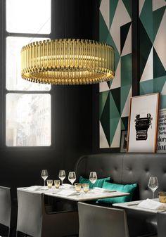 matheny suspension light fixture chandelier brass tubes stilnovo style delightfull