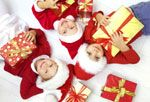 stock photo : Group of three children in Christmas hat with presents on floor Christmas Hat, Christmas Images, Family Christmas, Christmas Cards, Three Kids, Kid Pics, Goodies, Royalty Free Stock Photos, Presents