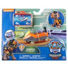 Paw Patrol Mission Paw - Zuma's Hydro Ski - Figure and Vehicle, Multicolor Paw Patrol Figures, Paw Patrol Toys, Paw Patrol Party, Dog Man Book, Toy Cars For Kids, Safari Party, All Toys, Lego City, Girl Scouts