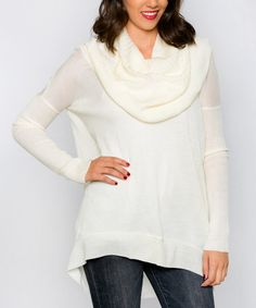 This Ivory Alta Cowl Neck Sweater by White Plum is perfect! #zulilyfinds