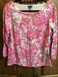 TALBOTS FLORAL PRINT KNIT TOP SIZE XL NEW #Talbots #KnitTop #Career