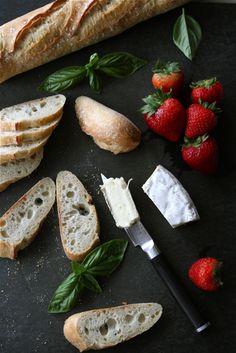 Crostini with Brie Cheese, Strawberries, Honey & Basil Recipe by CookinCanuck