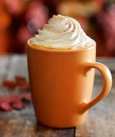 Healthy, homemade version of the Starbucks Pumpkin Spice latte - 80 calories! Must try!