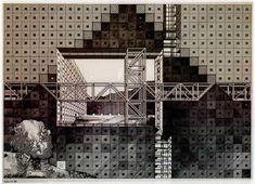 """Franco Purini, """"Parete"""", 1976, Inchiostro su carta da lucido, 52x72 cm #sketch"""