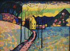 Marianne von Werefkin, Winter Landscape. Oil on canvas, 1909 Hermitage Museum