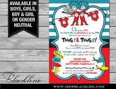 DIGITAL Dr. Seuss Baby Shower Invitation for by BlacklineDesignLLC