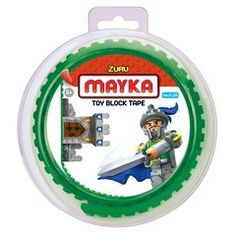 Buy the original Mayka Toy Block Tape now at ToysRUs Australia! Made from non-toxic silicon, Mayka is non marking, reusable and is compatible with LEGO and major brick building block brands. Lego Construction, Green Toys, Toys Uk, Building Toys, Toy Store, Special Gifts, Tape, Brick, Entertaining