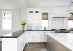 White Kitchen Grey Countertop pental quartz coastal grey - kitchen perimeter counters | kitchen