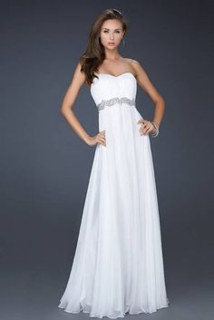 Long Formal Dresses For Teens | white-long-chiffon-prom-dress-2013-with-sequin-waistband-chiffon-prom ...