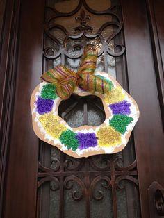 King Cake Door Hanger