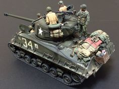 Tamiya M4A3E8 & Asuka M4A3E2. A Company, 15th Tank Battalion, 6th Armored Division. By Tetsuo Horikawa