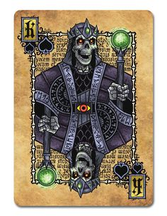 Grimoire-Playing-Cards-Necromancy-King-of-Spades