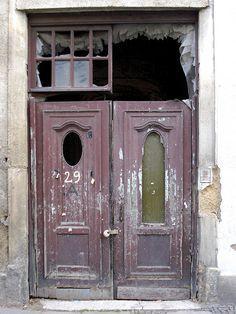 Old shabby door - Leipzig Germany