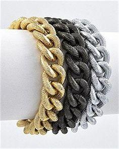 Tri-Tone Chain Bracelet $16